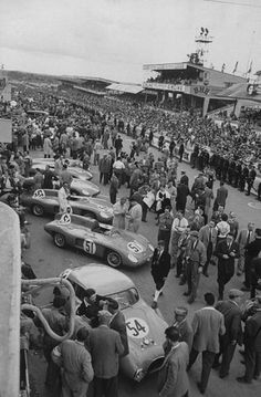 Le Mans 1954. #54 is a custom-bodied, Renault-powered private entry that came in last place (17th). #51 & #52 are Renault-powered Deutsch et Bonnet (DB) racers that didn't make it to the finish.
