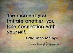 You are perfect as you are.  No need to mimic someone else.