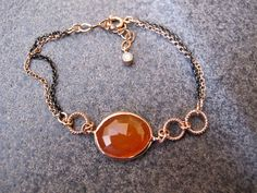 Agate Gold Plated Sterling Silver Bracelet