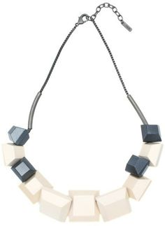 ICB Square wood mix Necklace スクエアウッドミックスネックレス on Shopstyle.co.jp