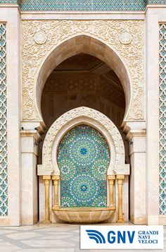 #Detail of #Hassan II #Mosque in #Casablanca, #Morocco. Discover #GNV routes from/to #Maghreb here: www.gnv.it/en/