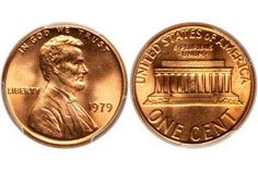How Much Is My Lincoln Memorial Penny Worth?: A 1979 Lincoln Memorial Penny Minted at the Philadelphia Mint in Uncirculated Condition Valuable Pennies, Rare Pennies, Valuable Coins, Penny Value Chart, 1943 Penny, Penny Values, Money Chart, Rare Coins Worth Money, Coin Prices