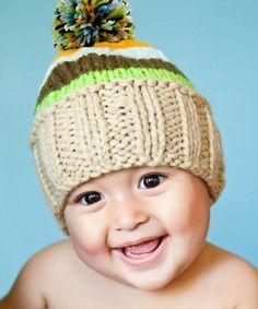 9e10cd96eee Melondipity Green   Blue Stripe Pom-Pom Beanie · Toddler BoysBaby ...