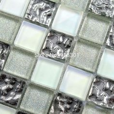tile backsplash with crystals for bathroom - - Yahoo Image Search Results