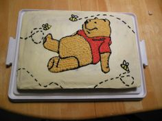 adorable pooh bear baby shower cake