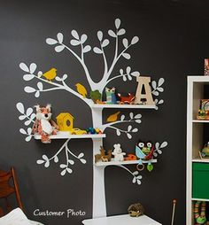Baby Nursery Wall Decal - Shelving Tree | SimpleShapes - Furnishings on ArtFire