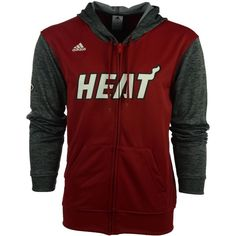 24ba4f3dcfd adidas Men s Miami Heat Pre Game Full-Zip Jacket ( 85) ❤ liked on Polyvore  featuring men s fashion
