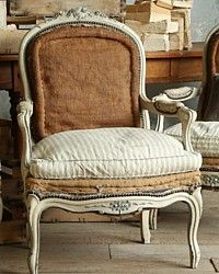 Antique French Louis XV Style Large Shabby Cream Armchairs Pair-antique, grey, upholstered, dining,shabby, gold, furniture, pair, arm, chairs, chair