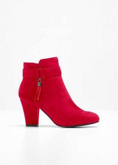 Stövlett, röd, strl. 38. Pris 299:- Bonprix.se Flirt, Lady In Red, Booty, Ankle, Outfits, Shoes, Design, Products, Fashion