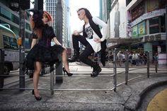 La Carmina's Hong Kong street fashion shoot, featured in Gothic Beauty Magazine interview. More: http://www.lacarmina.com/blog/2013/04/hong-kong-gothic-lolita-model-street-fashion-magazine/    japanese goth makeup, visual kei hair, jrock hairstyle, deathrockers, deathrock hair, goth hair inspiration