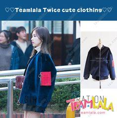 Teamlala 一目惚れ!韓国 TWICE ミナ 私服ジャケット 秋冬向け 高防寒性