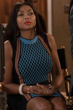 Cookie Lyon wearing  Versace Wool-Blend Dress