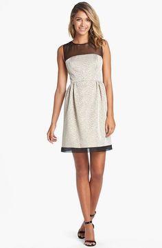 Ivy & Blu for Maggy Boutique Jacquard Fit & Flare Dress (Regular & Petite) | Nordstrom