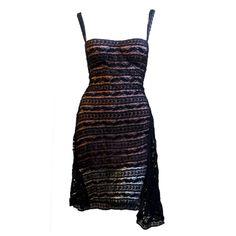 AZZEDINE ALAIA 1993  black lace dress with bustier