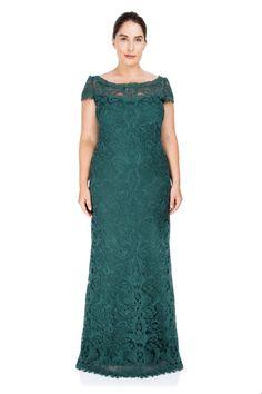 04c657985 Corded Embroidery on Tulle Cap Sleeve Gown - PLUS SIZE. Vestido LindoTallas  GrandesModaMadrinasVestidos ...