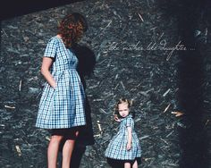 Mother and Daughter Matching Dresses  Checkered Matching by OffOn