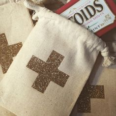 Gold Sparkle 4x6 Muslin Tote by cwdesigns2010 on Etsy
