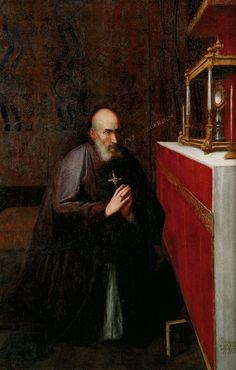 Juan Sariñena: San Juan de Ribera adorando la Sagrada Forma, 1612.