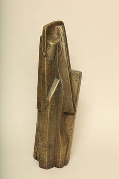 """Femme"" Bronze Sculpture with Gold Patina By Joseph Csaky"