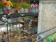 oragami/paper airplane hanging display