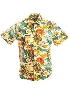 15b1bc09 [Exclusive] Slim Fit Hawaiian Shirt [Island Flowers / Beige] - Women's  Hawaiian Shirts - Hawaiian Shirts | AlohaOutlet SelectShop