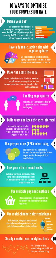 Infographic - 10 Ways to Optimise Your Conversion Rate