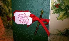 Christmas card with beads