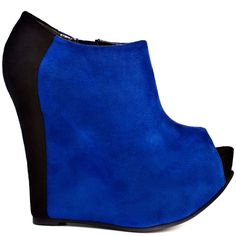 Fran Tick - Cobalt Black Suede by Luichiny Black Heels, Black Suede, Peep Toe Platform, Fashion Beauty, Womens Fashion, Ticks, Deep Purple, Beautiful Shoes, Wedge Shoes
