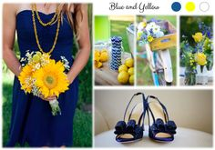 Inspiration board: Blue and Yellow Inspiration Boards, Simple Weddings, Yellow, Blue, Gold