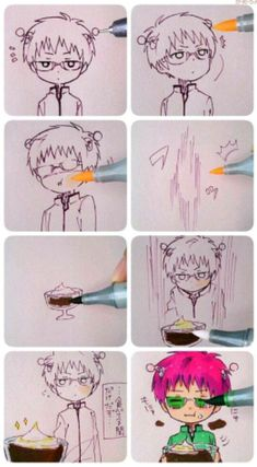 The Disaster Life of Saiki K. / Saiki Kusuo no Psi-Nan - Saiki Kusuo Anime Chibi, Fanarts Anime, All Anime, Otaku Anime, Anime Love, Kawaii Anime, Anime Guys, Anime Characters, Manga Anime