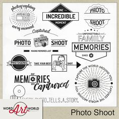 Photo Shoot Digital Word Art Set Instant by WordArtWorld on Etsy Digital Word, Framing Photography, Photography Photos, Digital Scrapbooking Layouts, Scrapbook Layouts, Word Design, More Words, Art World, Word Art