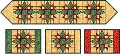 table runner quilt pattern | Christmas Table Runner Quilt Pattern