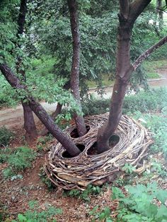 Andy Goldsworthy ~ nature artist ~ makes sculptures out of only natural things! Outdoor Sculpture, Outdoor Art, Sculpture Art, Metal Sculptures, Abstract Sculpture, Roman Sculpture, Sculpture Ideas, Modern Sculpture, Bronze Sculpture