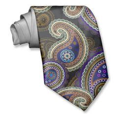 paisley ties for men | cool tie for men with a beautiful bold and vibrant funky purple ...