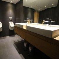 Corporate Interiors #Bathroom #Vanity #Black
