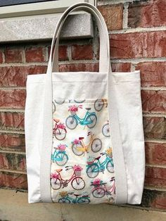 With An Inside Pocket A Ladies Mixed Fabric Shopping Bag