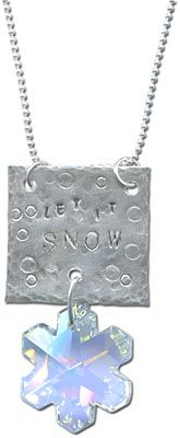Let it Snow Stamped Necklace, featuring SWAROVSKI ELEMENTS snowflake