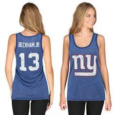 Women's New York Giants Majestic Royal Blue Pride Playing V T-Shirt