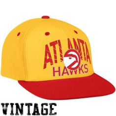 NBA Atlanta Hawks Adidas Snapback Hat (Gold/Red) by adidas. $22.99. 2-Tone Colors. Flat Brim. Snap Back Adjustable. Wear the latest headwear fashion and sport your favorite NBA team with this hot new Adidas NBA Snapback Hat!!!