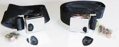 Seat Belt, Lab Belt Only, Chrome Flat Buckle,Black, Pr.  Item Number: S300FBK Price: $46.50 Work's on Bug's from ' 50 - ' 79, Ghia's ' 56 - ' 74, Type 3's from ' 62 - ' 73 and Things from '73 - ' 74. #aircooled #combi #1600cc #bug #kombilovers #kombi #vwbug #westfalia #VW #vwlove #vwporn #vwflat4 #vwtype2 #VWCAMPER #vwengine #vwlovers #volkswagen #type1 #type3 #slammed #safariwindow #bus #porsche #vwbug #type2 #23window #wheels #custom #vw #EISPARTS