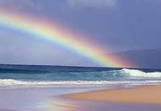 Somewhere Over the Rainbow.....reminds me of a trip to Dominica where there were daily rainbows!