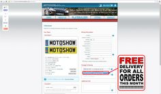 here you can find where you can add your free delivery option  www.motoshowplates.com