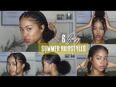 6 EASY (NO BRAID) NATURAL HAIRSTYLES | Perfect for Summer 2019!
