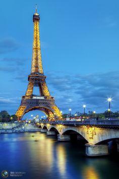 Eiffel Tower & Pont d'Iéna over The Siene River ~ Paris, France