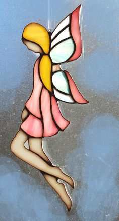 STAINED GLASS FAIRY by themerrymusemarket on Etsy, $35.00