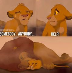 The part I always ball my eyes out! Sad Disney, Lion King Timon, Young Simba, Lion King Pictures, Baboon, Lions, Winnie The Pooh, Disney Characters