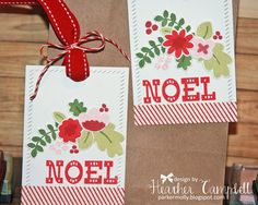 Hello! I hope that everyone is having a great week so far. Today I have two festive projects to share with you. Heather Campbell creat...