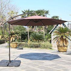 Sundale Outdoor 10 Feet Aluminum Offset Patio Umbrella Wi...  Https://www.amazon.com/dp/B01HJJS254/refu003dcm_sw_r_pi_dp_x_RmsczbT8HC7G8 |  Patio Ideas ...