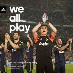 "Adidas Real Madrid ""We all play"" by Jacint Cabau, via Behance"