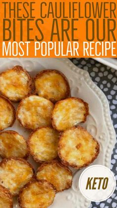 These Cauliflower Bites are a tasty Keto snack! Cauliflower Cheese Bites If you were on the keto diet and looking for an easy low-carb snack idea, you will love these tasty cauliflower bites. Cauliflower Cheese, Cauliflower Bites, Ketogenic Recipes, Low Carb Recipes, Ketogenic Diet, Dukan Diet, Keto Snacks, Snack Recipes, Diet Recipes